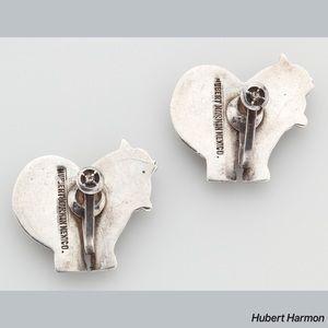 Hubert Harmon Jewelry - Hubert Harmon Mexican Sterling Horse Rear Earrings